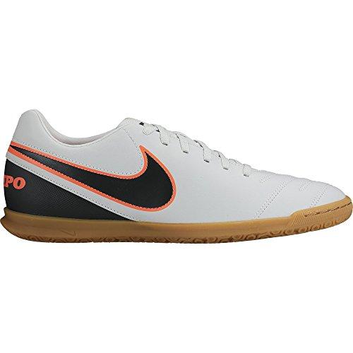 Nike Tiempo Rio Iii Ic, Scarpe da Calcio Uomo Multicolour - Blanco / Negro / Naranja (Pure Platinum / Black-Hypr Orng)