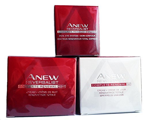 Avon NEU Reversalist Complete Renewal: Eye Cream + Day Cream + Night Creme Set.