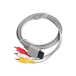 OSTENT Generisches Audio Video AV Spiel Ausgangs Kabel kompatibel für Nintendo Wii Video Spiel