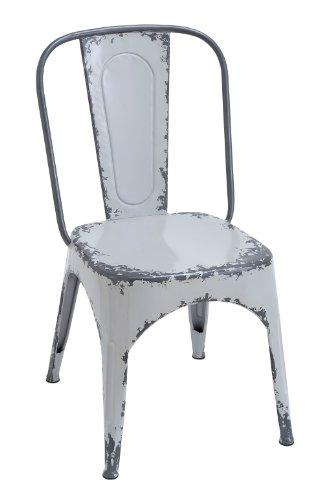 PLUTOS (Mythologie) Marken Stuhl mit breiten, flachen Sitz und leicht geschwungene Rückenlehne, weiß