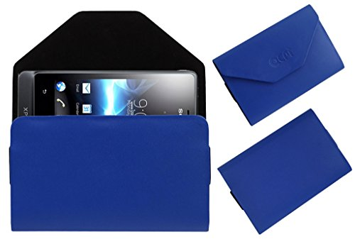 Acm Premium Pouch Case For Sony Ericsson Xperia Go St27i Flip Flap Cover Holder Blue  available at amazon for Rs.389