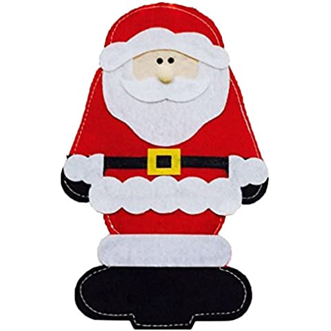 Conjuntos de Navidad de Santa Claus bolsa de vajilla Cuchillo y Tenedor Bolsa de decoraciones de Navidad de Santa Claus Vajilla