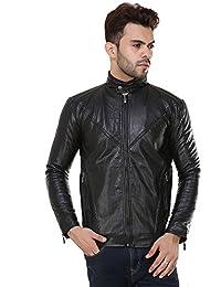 Derbenny High Quality Premium Black Leather jacket For Men