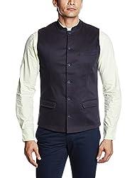 Parx Men's Cotton Waistcoat (8907114579830_XMVY00118-B9_40_Fancy Blue)