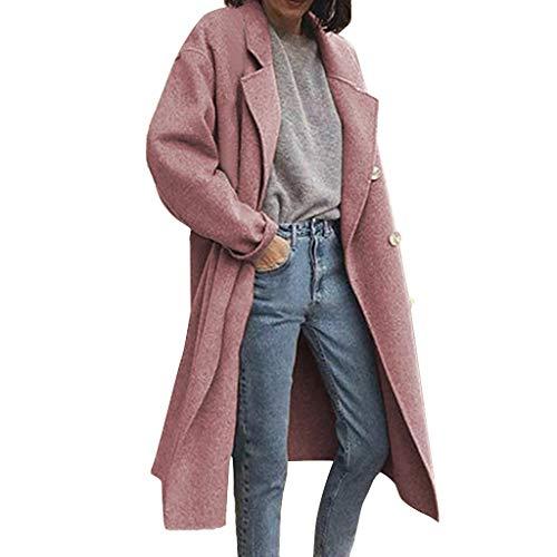 Giacca di Jeans Giacche Moto Cardigan Giacca Smoking da Donna Formale Giacca Vestito Smoking Smoking Cardigan Blazer Donna Abito Top Outwear Donna Top Sportivo (XL,Rosa)