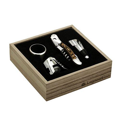 Legnoart Memorabile Kenner Wein Set, Silber, 4-teilig
