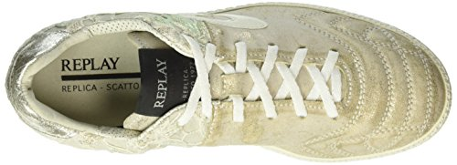 Replay Replica Scatto Calle, Baskets Basses Femme Mehrfarbig (Platinum Flower 2441)