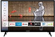 Techwood H32T52E 32 Zoll Fernseher (Smart TV inkl. Prime Video / Netflix / YouTube, HD ready, Works with Alexa