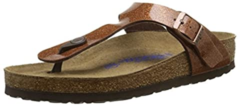 Birkenstock Gizeh, Tongs Femme, Marron (Magic Galaxy Brown/Soft Footbed), 35 EU