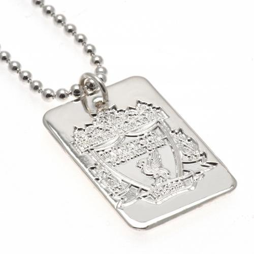 Liverpool F.C. Silver Plated Dog Tag & Chain