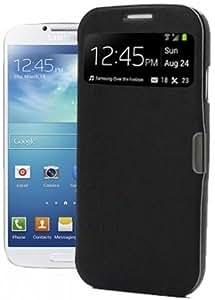 itronik® Flip Cover Schützende Display-Klappe mit Fenster und Magnetverschluss für Samsung Galaxy SIV Mini S4 Mini I9195 schwarz