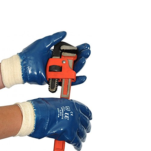 Ultimate Industrial RNF15 Work Gauntlets Nitrile Chemical Protection Hand Safety