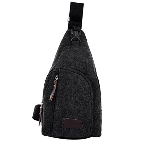 Freizeit Licht Kühlen Mehrzweck Leinwand Unbalance Gym Rucksack Sack Schulranzen Für Einen Mann Multicolor Black