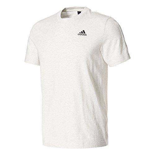 Adidas Ess Base Tee T Shirt, Herren white melange/Black