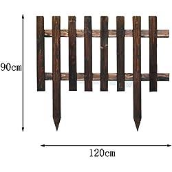 SL&ZX Holz-Zaun,Im Freien karbonisiert gartenzaun Weiße Holz freistehende pefect für Outdoor-hinterhof und Deck Grün rostfrei Grüne Landschaft Netz Schnee eisenzaun-K