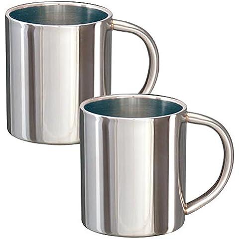 Tazza termica bicchiere Set di 0,2l in acciaio inox thermos in acciaio inox bicchiere termico tazza - Krug Grande
