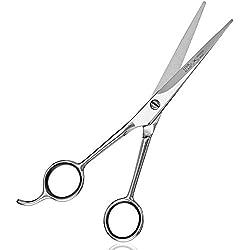 LUUK & KLAAS tijeras profesionales de peluquería de acero inoxidable con microdentado – para un corte preciso | con 2 años de garantía de satisfacción | tijera profesional de peluquería / tijeras para peluquero