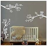 BDECOLL Grande albero di Koala Tree Wall Decal Vinyl Wall Sticker Wall Art Baby Nursery Room (bianco)