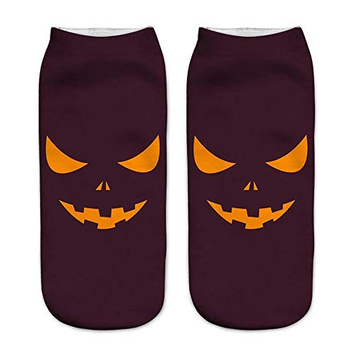 3D Halloween Kürbis Druckmedium Sport Socken Casual Arbeit Business Socken Hot Sale (Make-up Für Halloween Ballerina)