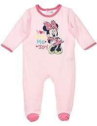 Pyjama velours bébé fille Minnie Rose de 3 à 23mois