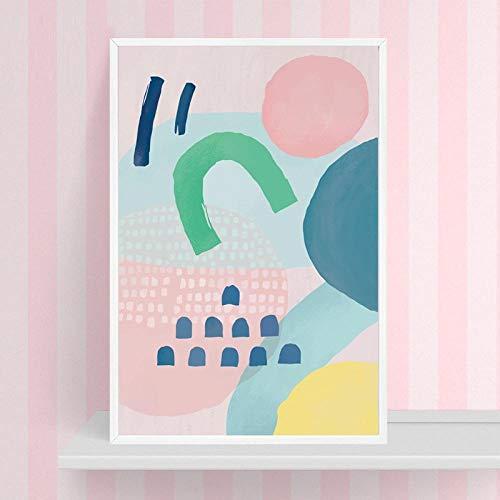 Abstrakter Sonnenaufgang HD 1 Stücke Drucke Poster Leinwand Wohnkultur Malerei Wandkunst Modulare Bild Für Kinderzimmer Geschenk Geburtstag-60x80cm no Frame