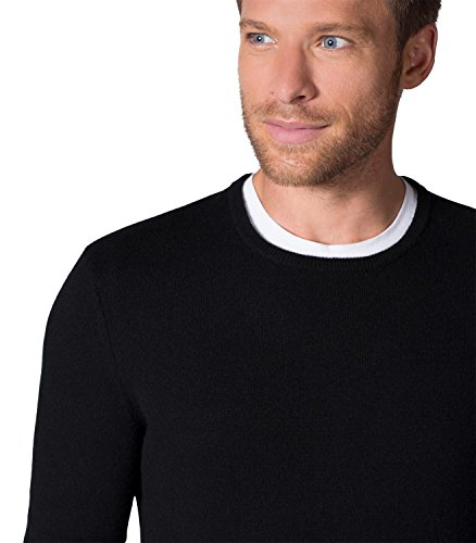 WoolOvers Pullover aus reinem Kaschmir mit Rundhalsausschnitt für Herren Black