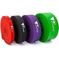 amzdeal Bandas Ejercicio con 4 Tipos(roja, Negra, púrpura y Verde) Banda