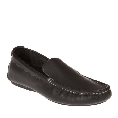Vionic Mens Parker Orthotic Slip On Moc Toe Loafer Shoes (8 D(M) US, BLACK) Noir - Noir
