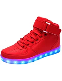 hot sale online 6b901 b5889 KINDOYO LED Zapatos Color USB Carga Deportivas De Luces Zapatillas Unisex  Hombres Mujeres