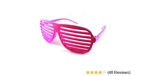 f181fcfdca Hot Pink Fashion Shutter Shades Sunglasses Novelty Fun  Amazon.co.uk   Clothing