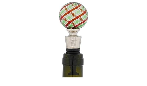 /Vert Filigrana Glassofvenice Bouchon de bouteille en verre de Murano/