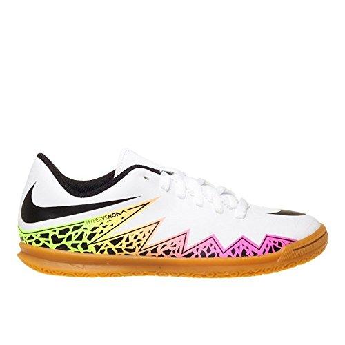 Nike Jr Hypervenom Phade Ii Ic, Scarpe da Calcio Unisex – Bambini Blanc Cassé - Blanco (White / Black-Total Orange-Volt)