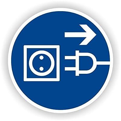 Vor dem Öffnen Netzstecker ziehen / Gebotszeichen / GE-12 / Sicherheitszeichen / Piktogramme / DIN EN ISO 7010