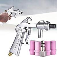 Kit de pistola de chorro de arena, pulverizador de pistola de aire, chorro de arena, pistola de sifón de aire con boquillas y tubos de metal / cerámica, pistola de boquilla Kit de chorro de arena