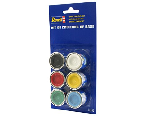 Revell 32342 - Set di Colori Base per dipingere modellini, 6 pz.