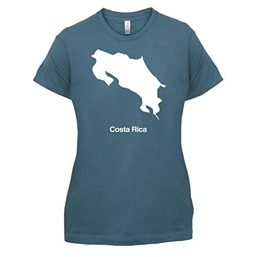 Costa Rica / Republik Costa Rica Silhouette - Damen T-Shirt - 14 Farben Indigoblau