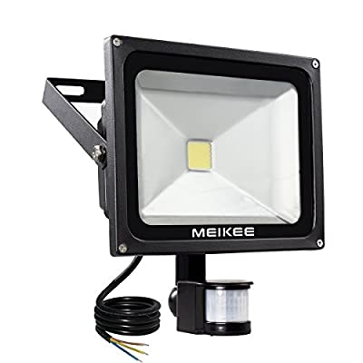 MEIKEE 30W Motion Sensor Light, Super bright LED Flood Lights, 75W HPS Equivalent, High Output 2250lumen, Daylight White, Security Light, Waterproof , PIR Floodlight[Energy Class A+] - inexpensive UK light shop.