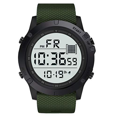 ab4f68358c3f Skryo Reloj para hombre señoras Relojes deportivos Reloj de pulsera digital  LED para exteriores a