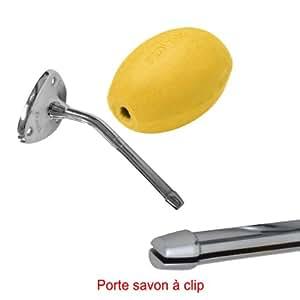 Savon jaune rotatif Provendi avec porte savon à Clip