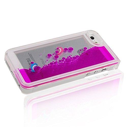 """Yaobai-2015 New Iphone 6 Plus 5.5"""" Case Coque Housse Etui Transparent Clair Cristal dur plastique Cover šŠtui de protection Liquide se šŠcoulant Bling Glitter Sparkles pour Iphone 6 Plus"""