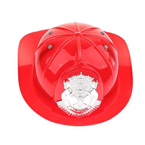 D DOLITY Kinder Jungen Feuerwehrmann Hut, One Size - rot