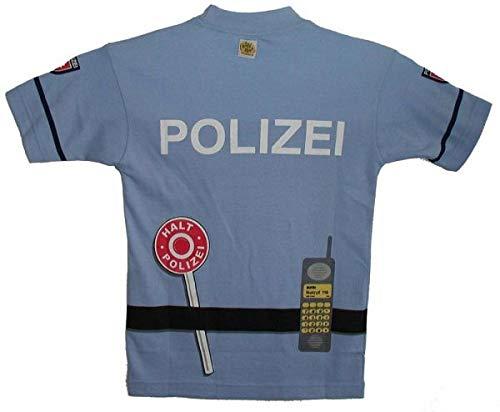 Polizei Shirt Kostüm - Kid's Shirt Polizei T-Shirt blau, Größe 104