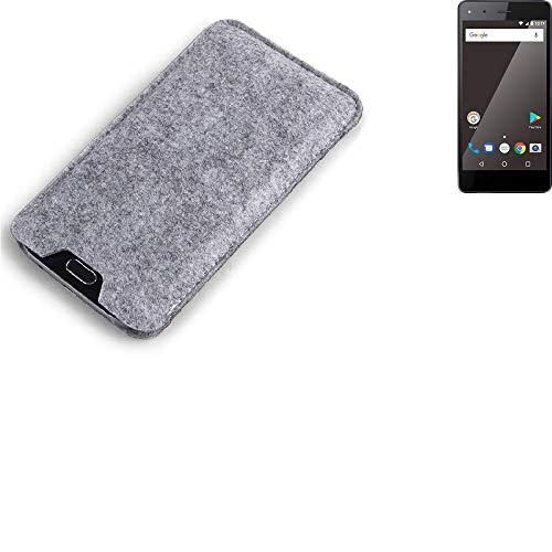 K-S-Trade Filz Schutz Hülle für Blaupunkt SL 01 Schutzhülle Filztasche Filz Tasche Case Sleeve Handyhülle Filzhülle grau