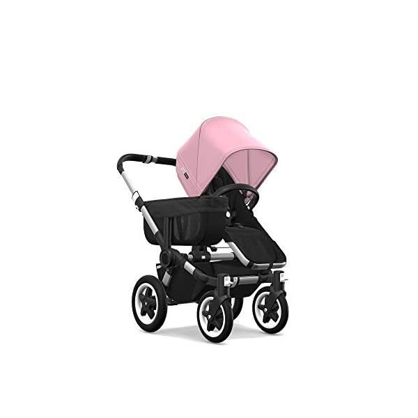 Bugaboo Donkey 2 Mono, 2 In 1 Pram and Pushchair, Extends Into Double Stroller, Black/Soft Pink Bugaboo The name donkey says it all; it's the bugaboo pushchair with the most storage space The bugaboo donkey2 mono can be easily extended to create even more space in the expandable side luggage basket & underseat basket Use extension sets to convert the bugaboo donkey2 mono into a duo or twin pushchair in just three clicks (extension sets sold separately) 1