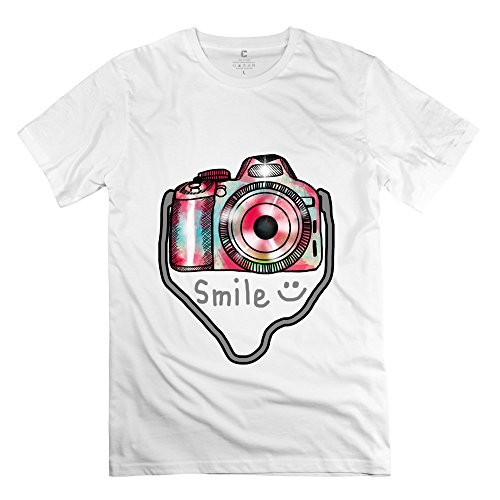 Herren-Kamera Foto T-Shirt Einzigartige Geek T-Shirts, Herren, weiß