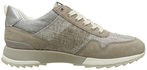 Geox D Aneko B Abx B, Sneakers Basses Femme Beige (Papyrus/Taupec1Sq6)