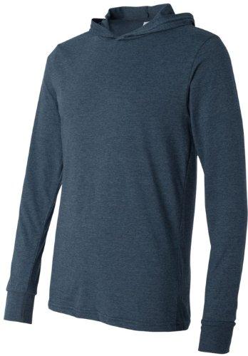 Canvas - T-shirt à manches longues et capuche - Adulte unisexe Bleu Marine