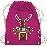 Oktoberfest Kind - Hirsch in Tracht Oktoberfest 2019 - Unisize - Fuchsia - WM110 - Turnbeutel & Gym Bag