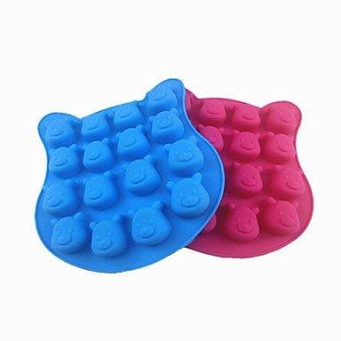 lllzz 16Loch Winnie Pooh Form Kuchen Eis Jelly Schokolade Formen, Silikon 18,5× 19,5× 2cm (7,3× 7.7× 2cm) zufällige Farbe - Ninja Turtles-silikon-form