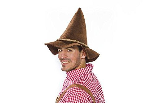 Räuberhut Vagabundenhut, braun, mit Kordel Größe ca. - Räuber Kostüm Für Erwachsene